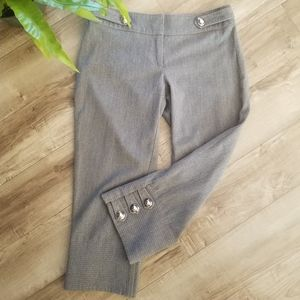 Bebe gray cropped career pants size 0